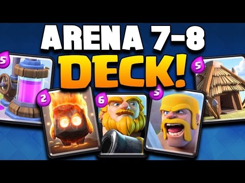 Clash royale get to legendary arena arena 7 8 deck for Clash royal deck arene 7