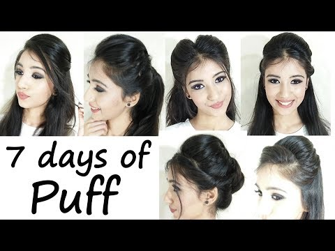 How to- Puff Hairstyle For School, College, Work | 7 days of Puff