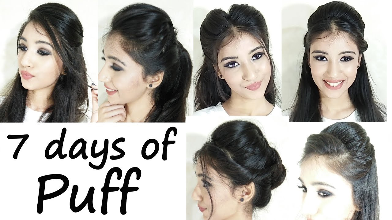 How To Do Easy 11 Minute Side Puff Hairstyle For Office College