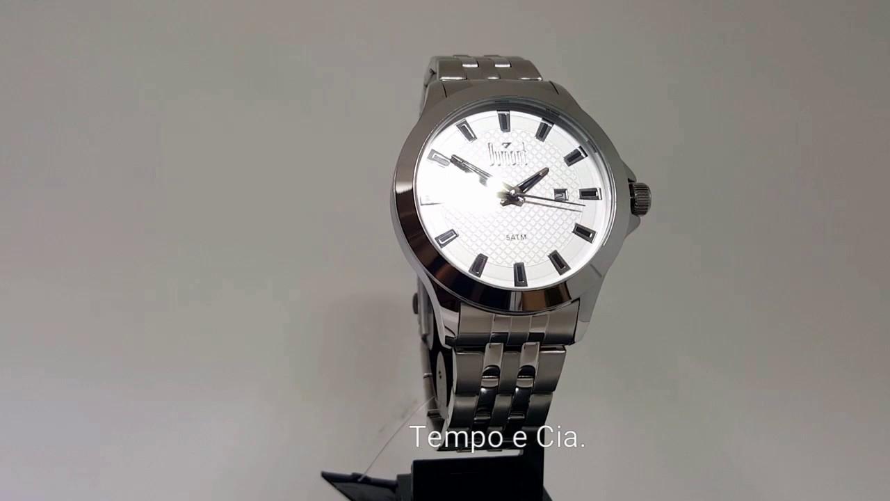 4103560b7df Relógio masculino aço grande Dumont DU2115cw 3k - YouTube