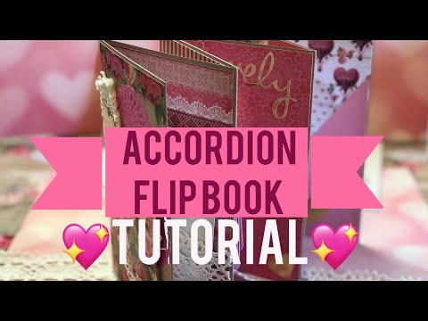 Accordion Valentines Flip Book | 💖 Tutorial 💖