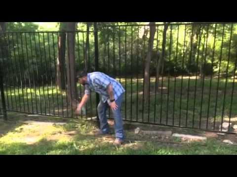 Iron fence installation