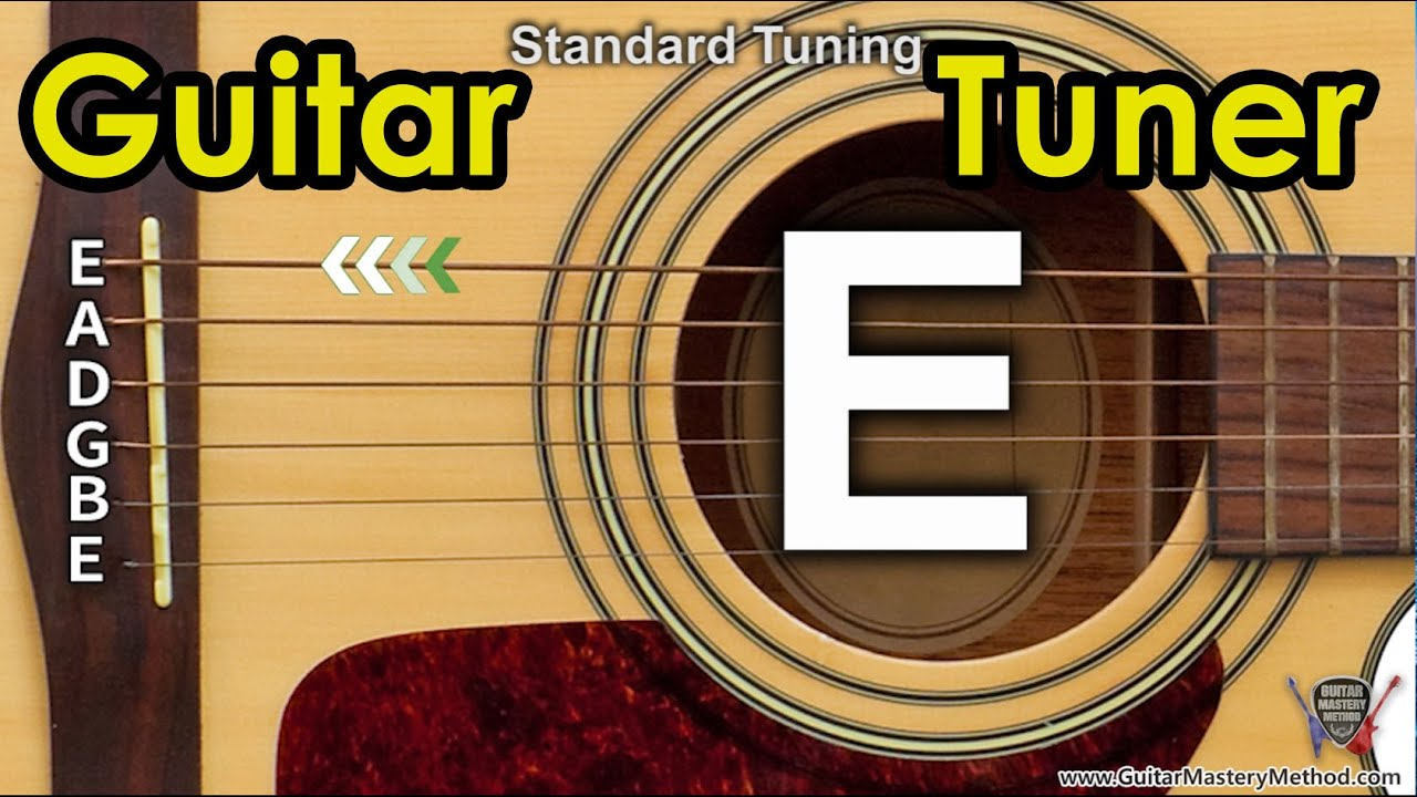 guitar tuner tune standard guitar online e a d g b e youtube. Black Bedroom Furniture Sets. Home Design Ideas