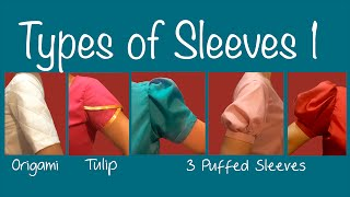 Types of Sleeves 1 ~Puff sleeve, Petal sleeve, Origami sleeve