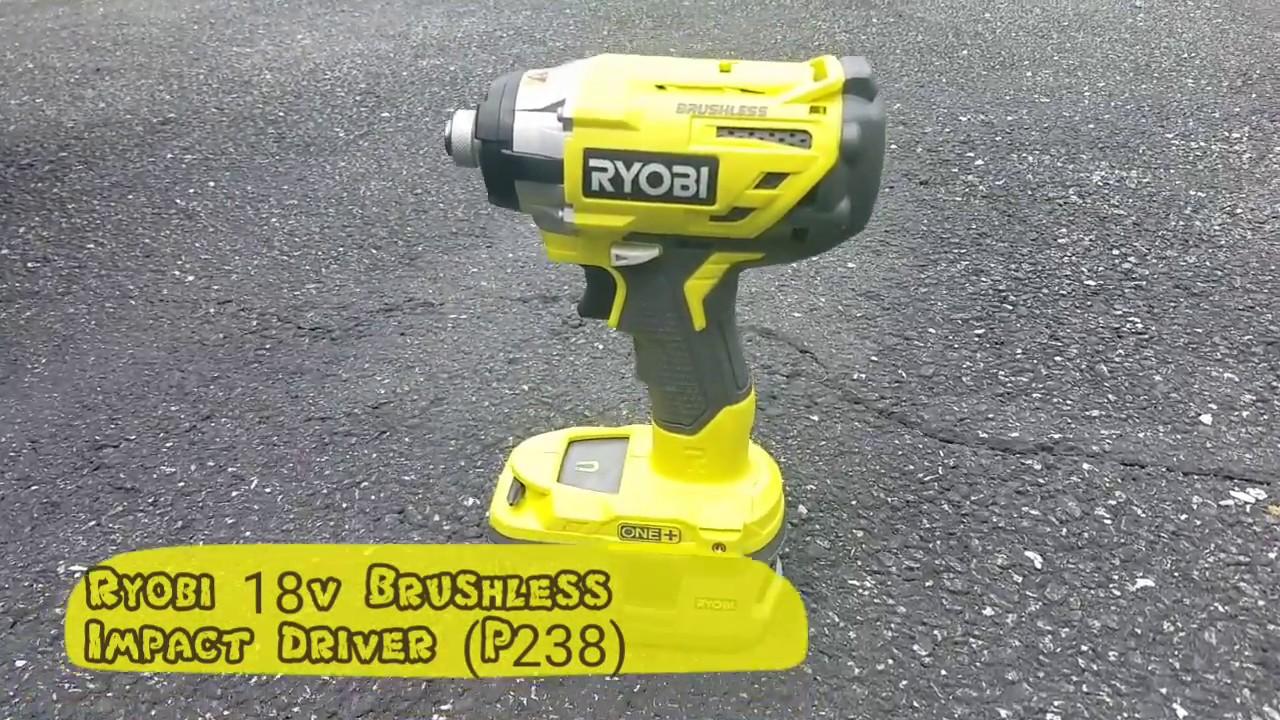 Ryobi 18v Brushless Impact Driver (P238) Removing Lug Nuts