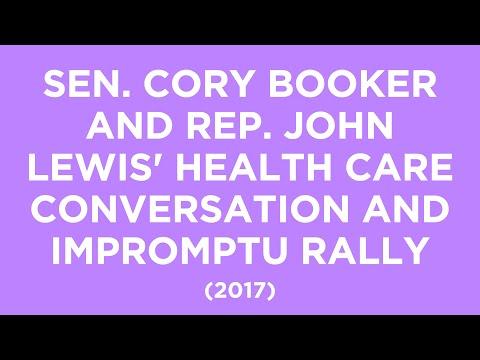 Sen. Cory Booker and Rep. John Lewis