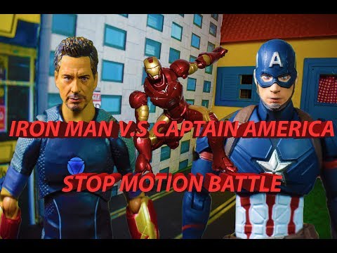 IRON MAN VS CAPTAIN AMERICA STOP MOTION