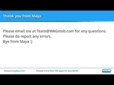 Learn English Vocabulary by Maya - Productive