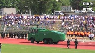 FC Rot-Weiß Erfurt II - 1. FC Lokomotive Leipzig 14.06.2015 | Choreo, Pyro & Ausschreitungen