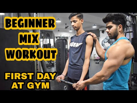 First day at Gym, Complete guidance for beginners|| Beginners mix workout