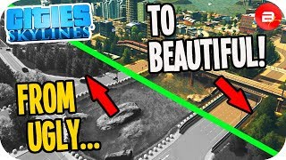 "From ""UGLY"" to BEAUTIFUL Vanilla City! Cities: Skylines Fix Your City"