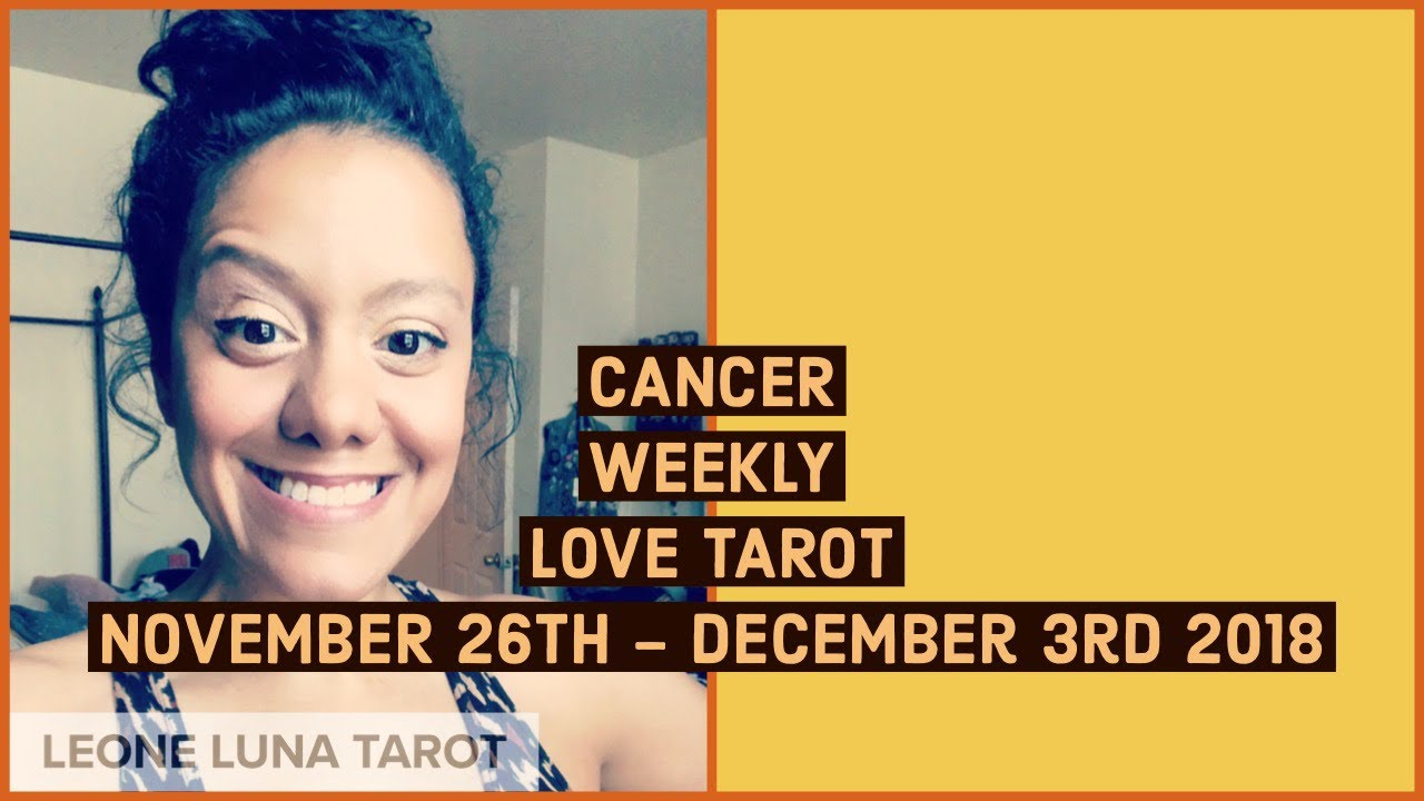 Cancer Weekly Horoscope 24 - 30 December 2018