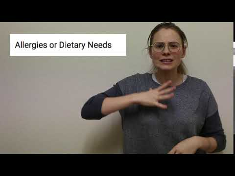 Allergies or Dietary needs- EDS- BSL