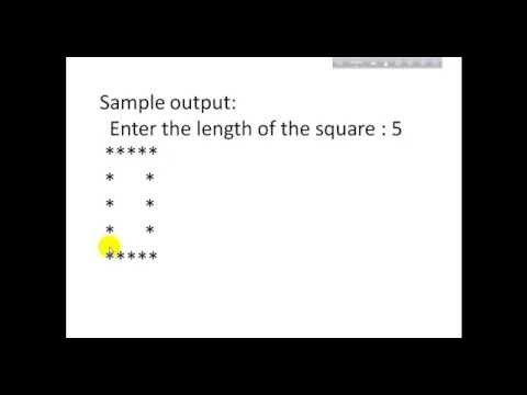 Hollow Square Pattern in C