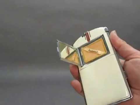 Ronson Magnapact Art Deco Lighter Cigarette Case Compact Ca 1935