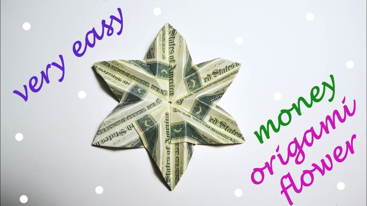 Very easy money flower origami dollar tutorial diy folded no glue very easy money flower origami dollar tutorial diy folded no glue mightylinksfo