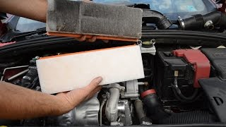 How to remove and replace air filter peugeot - citroen 1.6 hdi