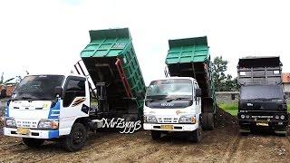 Dump Trucks Isuzu ELF HD Mitsubishi Colt Diesel Unloading Dirt