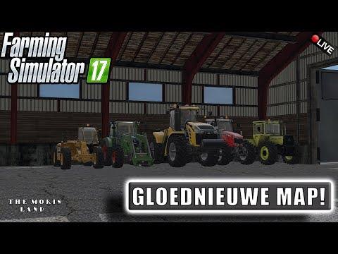"{NL} ""EEN GLOEDNIEUWE MAP!"" FarmingSimulator 17 The Moris Land {G29}"