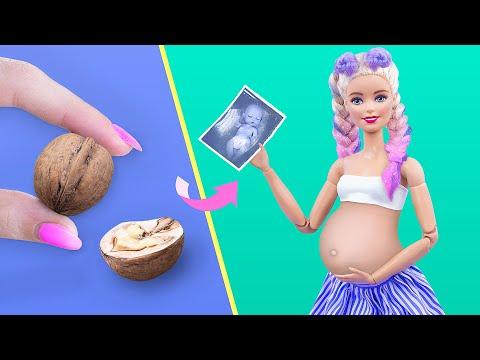 10 лайфхаков и поделок для беременной Барби и миниатюрного малыша
