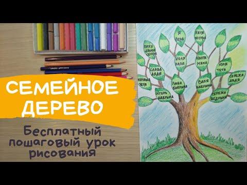 Как нарисовать генеалогическое дерево семьи своими руками для школы