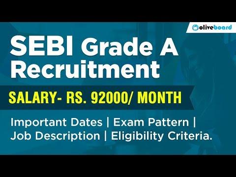 SEBI Grade A Recruitment 2018 | Job Description | Exam Pattern