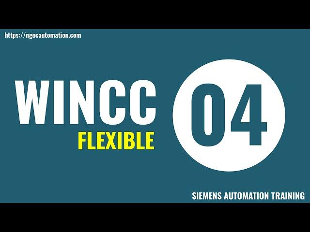 Tự học wincc flexible 4 - Nhập xuất số nguyên