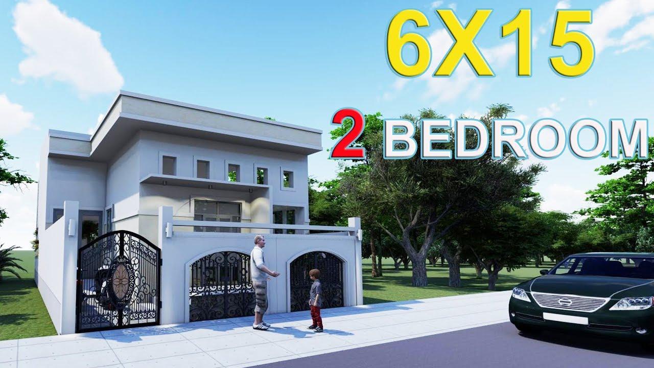 Nhà cấp 4 ĐƠN GIẢN 6x15m 2 Phòng Ngủ