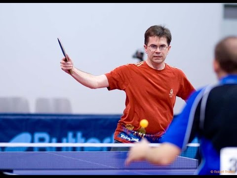 Scott Gordon vs Ty Hoff, Senior Over 40 Hardbat Semifinal, US Table Tennis Championships