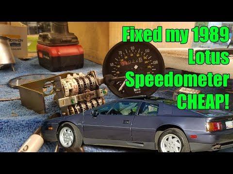 1989 Lotus Esprit Speedometer repair CHEAP!! Part 6