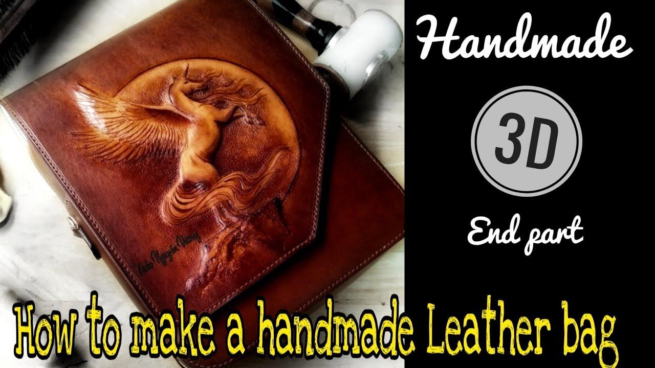 How to make handmade leather bags | Cách làm túi da thủ công (phần cuối)