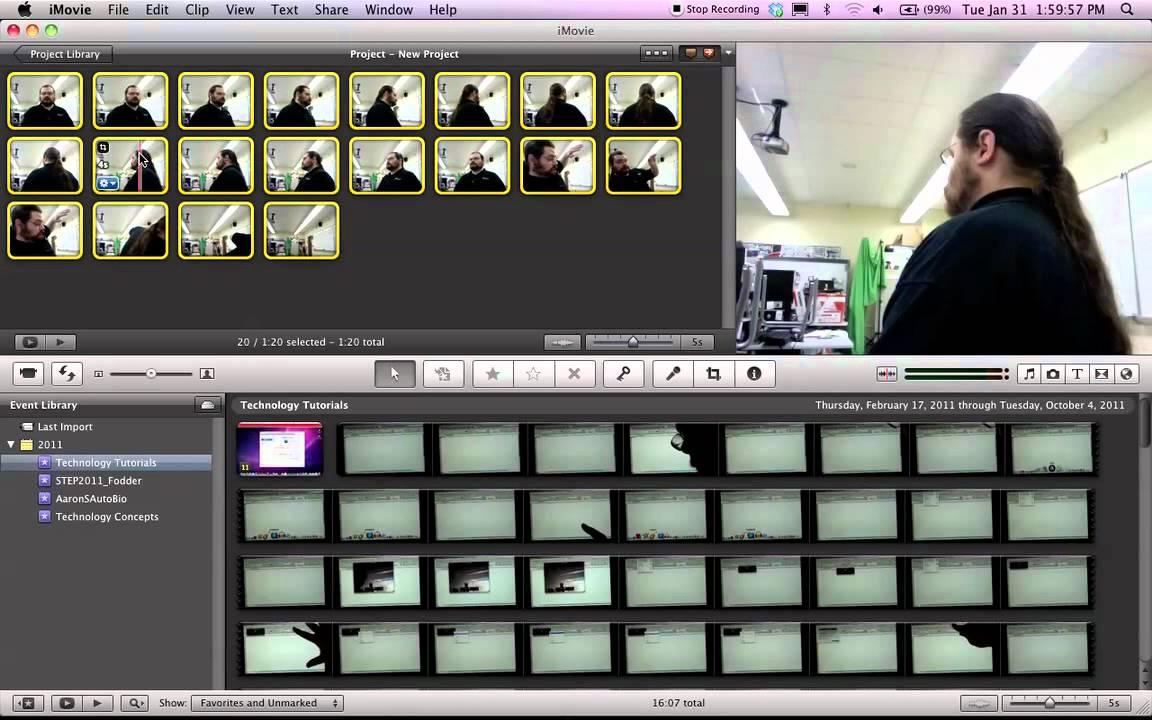 Animation From Still Photos Using Imovie