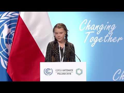 Discurso de Greta Thunberg no  COP24 sobre mudança climática Legendas Portugues-BR