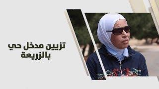 أمل القيمري - تزيين مدخل حي بالزريعة