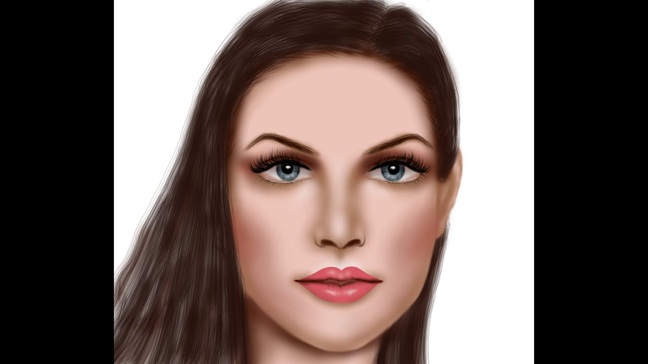 Drawing A Face In Gimp: Time Lapse Digital Painting Tutorial How To Draw A  Dragon,