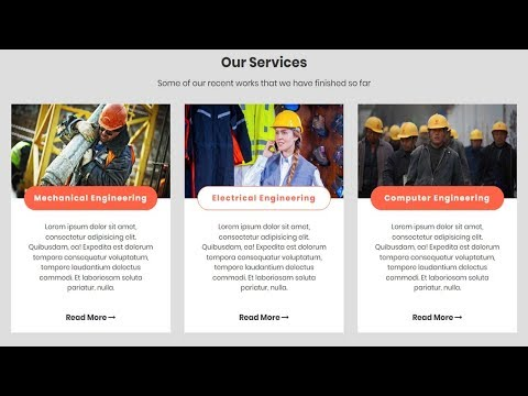 Our Service Section Design With HTML, CSS And Bootstrap | Website Design Tutorial