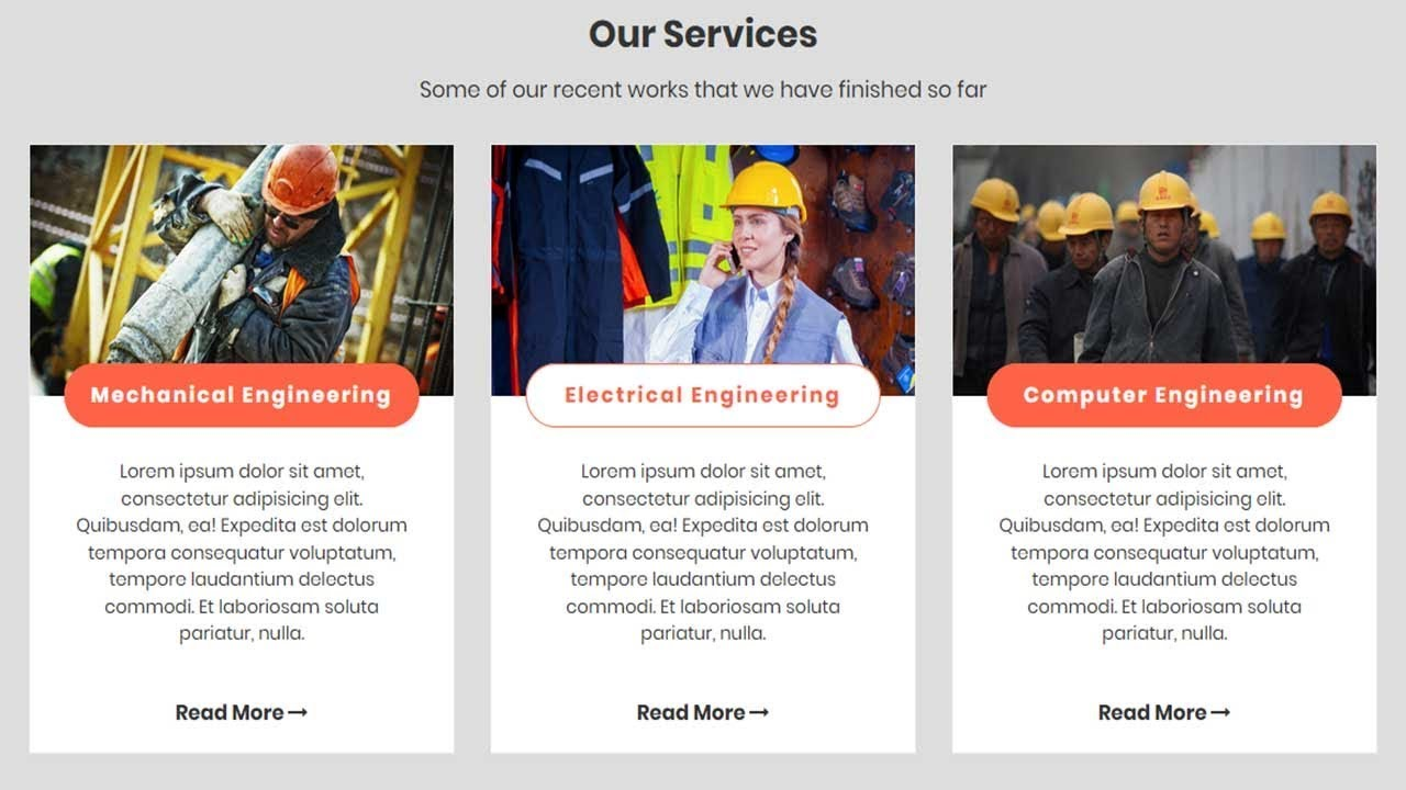 Our Service Section Design With Html  Css And Bootstrap