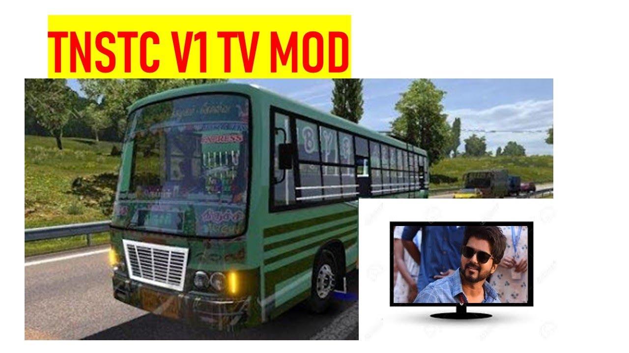 Tnstc V1 Mod Video coach tnstc bus full speed in highway tnstc and setc tamilnadu bus simulator ets2