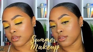 Yellow Summer Makeup Tutorial