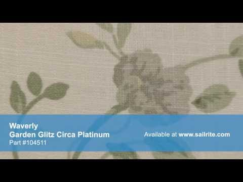 Video of Waverly 676991 Garden Glitz Circa Platinum Fabric #104511