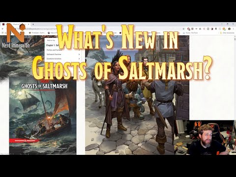 What's New in Ghosts of Saltmarsh? (D&D 5e) | Nerd Immersion