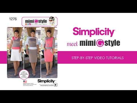 Mimi G Style For Simplicity, Pattern 1276 Tutorial. Part #1 View AB Bodice.