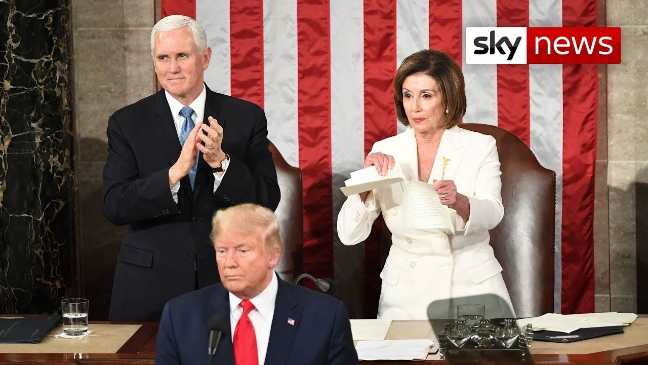 Nancy Pelosi ripping Donald Trump's speech may not have been ...