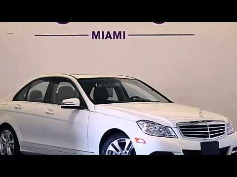 Pre Owned 2012 Mercedes Benz C300 4matic Awd Miami Fl