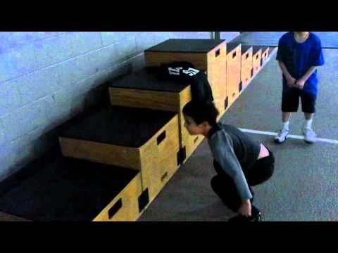 Box Jumps 5 year old 32'' Define Fitness