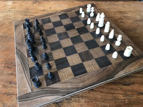 Epoxy Resin and Wood Chessboard
