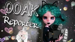 Repaint Doll Reporter OOAK on a Monster High doll Draculaura custom