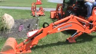 2012 Kubota B3000 Tractor Loader Backhoe Cab Heat Air Mower FOR SALE