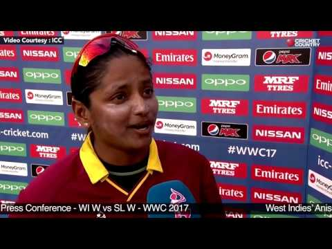 West Indies' Anisa Mohammed Post Match Press Conference - WI W vs SL W - WWC 2017