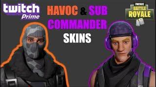 SEASON 3 / *NEW* TWITCH PRIME SKINS [Havoc & Sub Commander] GAMEPLAY!! (Fortnite Battle Royale)